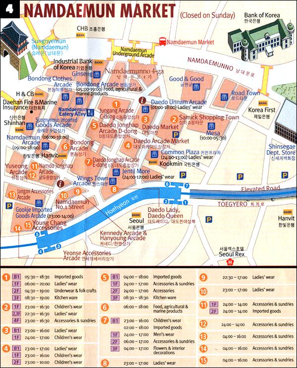 Namdaemun map