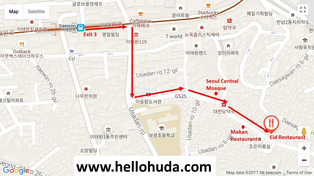 direction to eid restaurant seoul korea