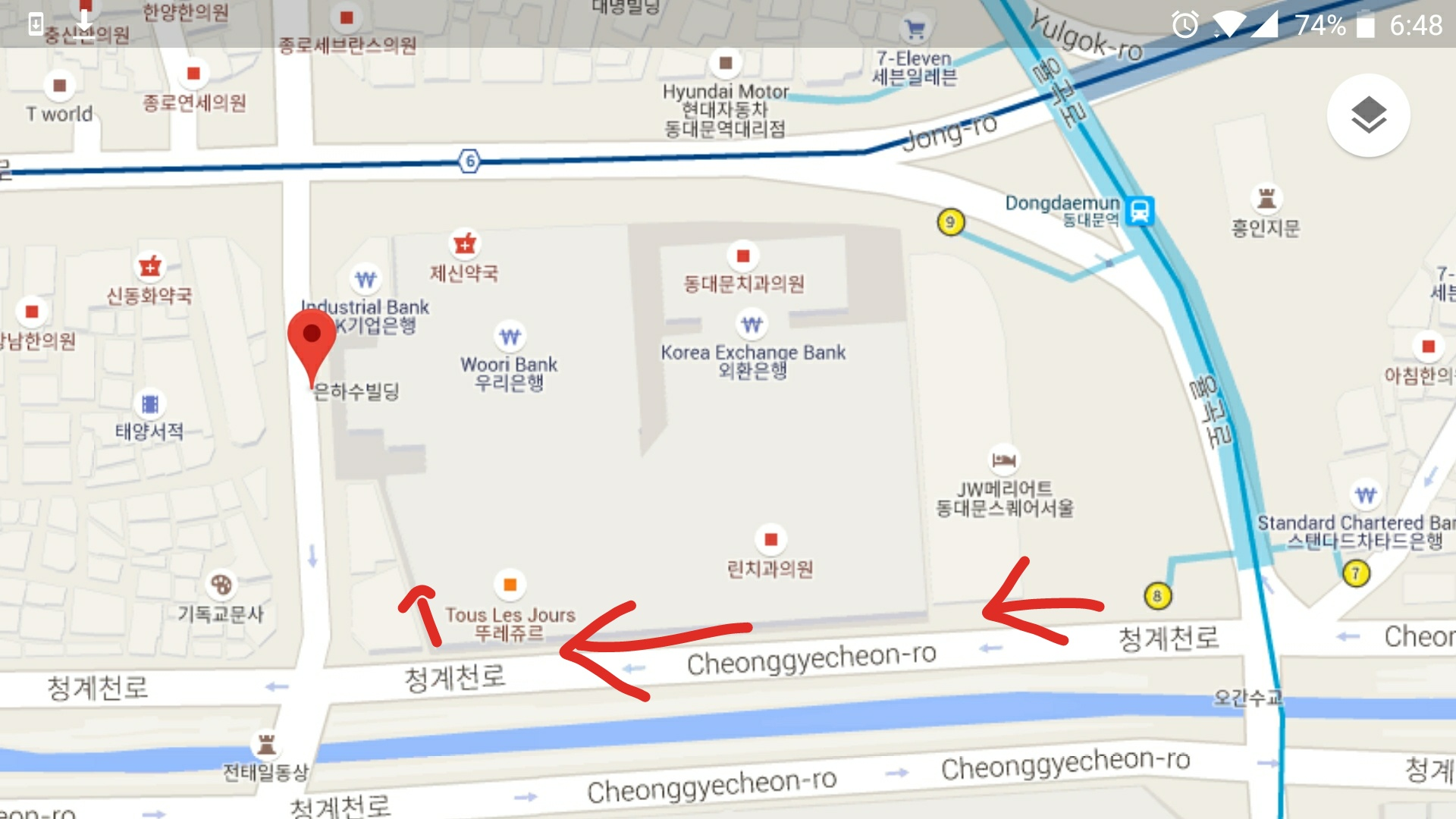 how to get to Grilled Fish Alley in Dongdaemun